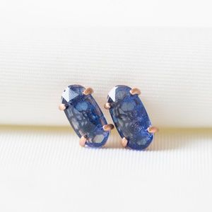 Kendra Scott Betty Stud Earrings Navy Dusted Glass